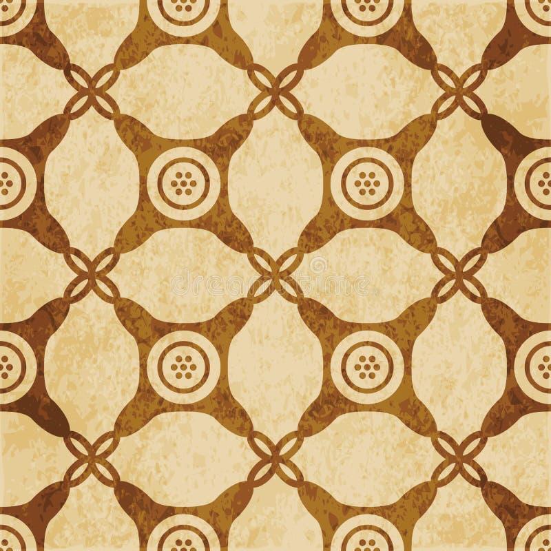 Угол ретро коричневой предпосылки grunge текстуры пробочки безшовной круглый иллюстрация вектора