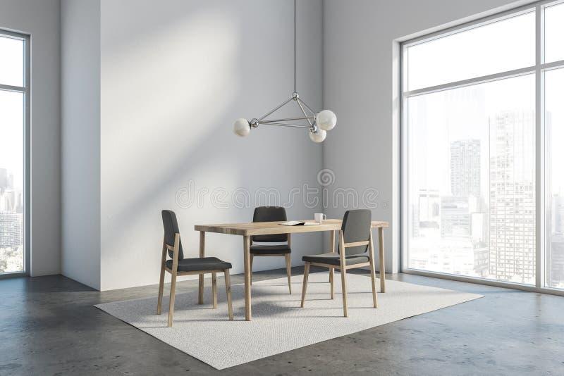 Угол столовой просторной квартиры белый бесплатная иллюстрация