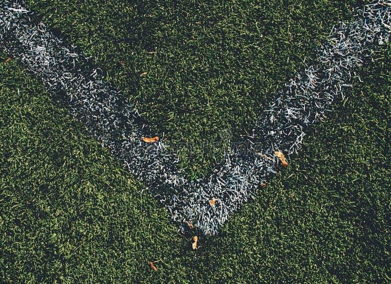 Угол футбольного поля  стоковые изображения rf