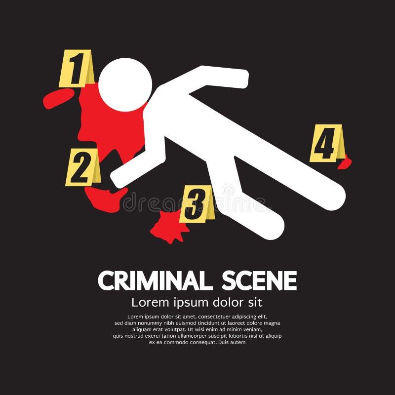 Уголовное место иллюстрация штока