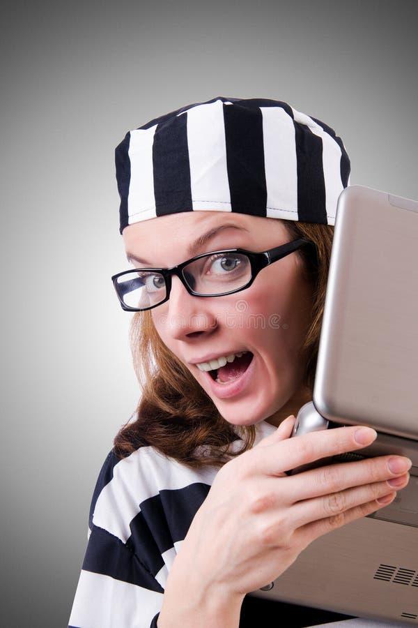 Уголовный хакер стоковые изображения rf