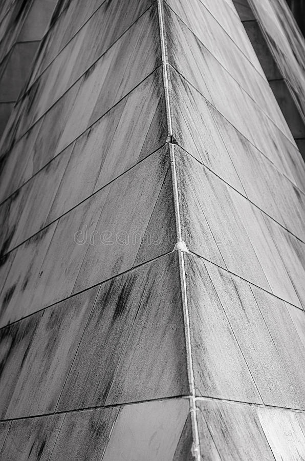 Угол серой каменной стены стоковое фото rf
