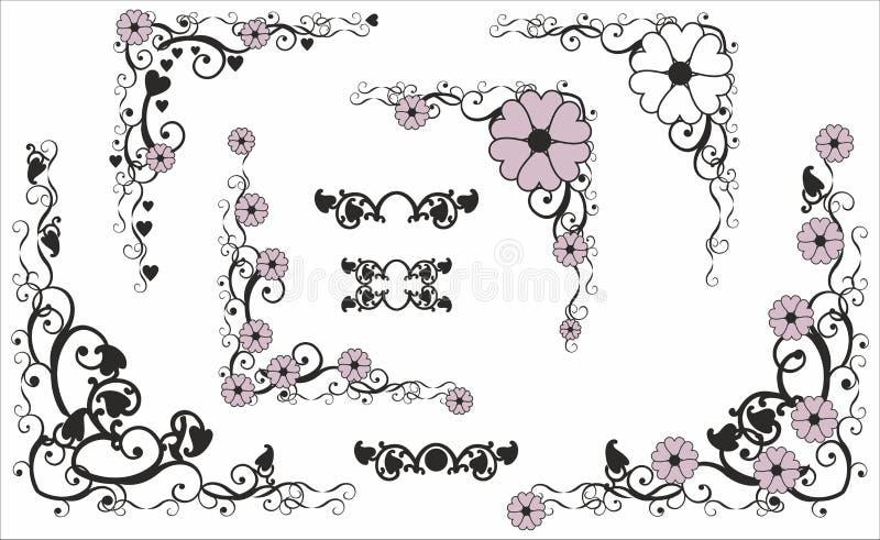 Угол с цветком бесплатная иллюстрация