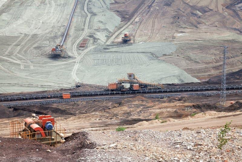 Угольная шахта, большая часть стоковые фотографии rf