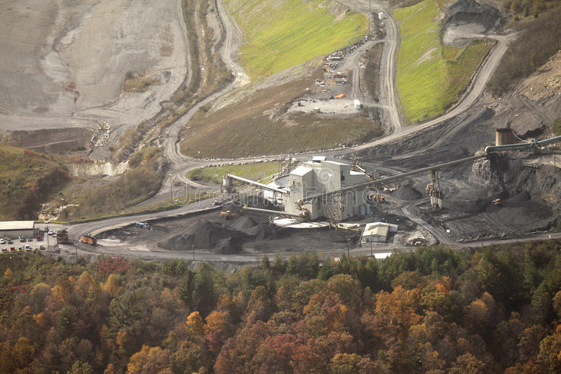 Угольная шахта, Appalachia, Америка стоковая фотография