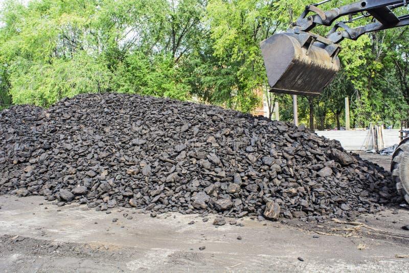 Уголь на зима стоковые фото