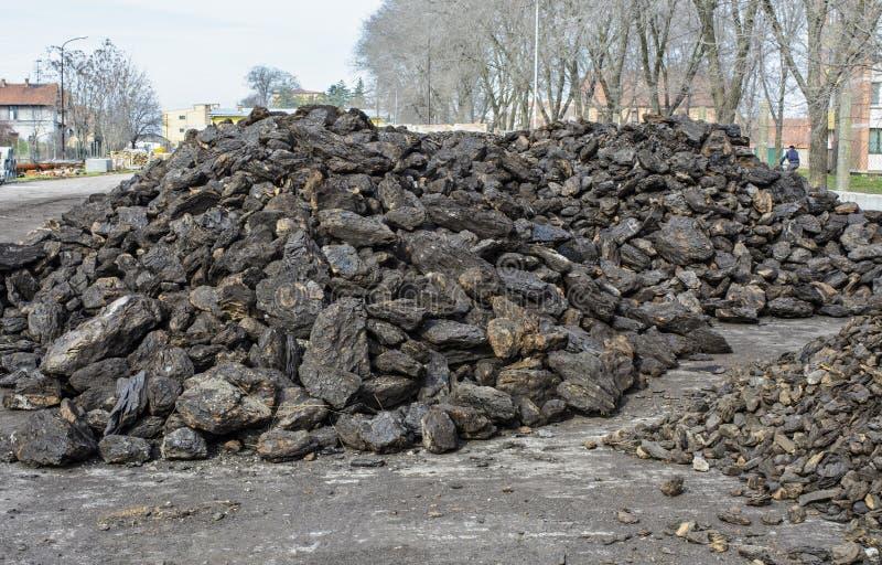 Уголь на зима стоковая фотография
