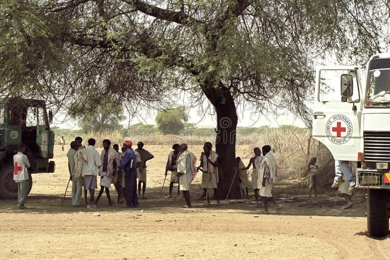 Угроза голода должная к изменению климата, Эфиопии стоковая фотография rf