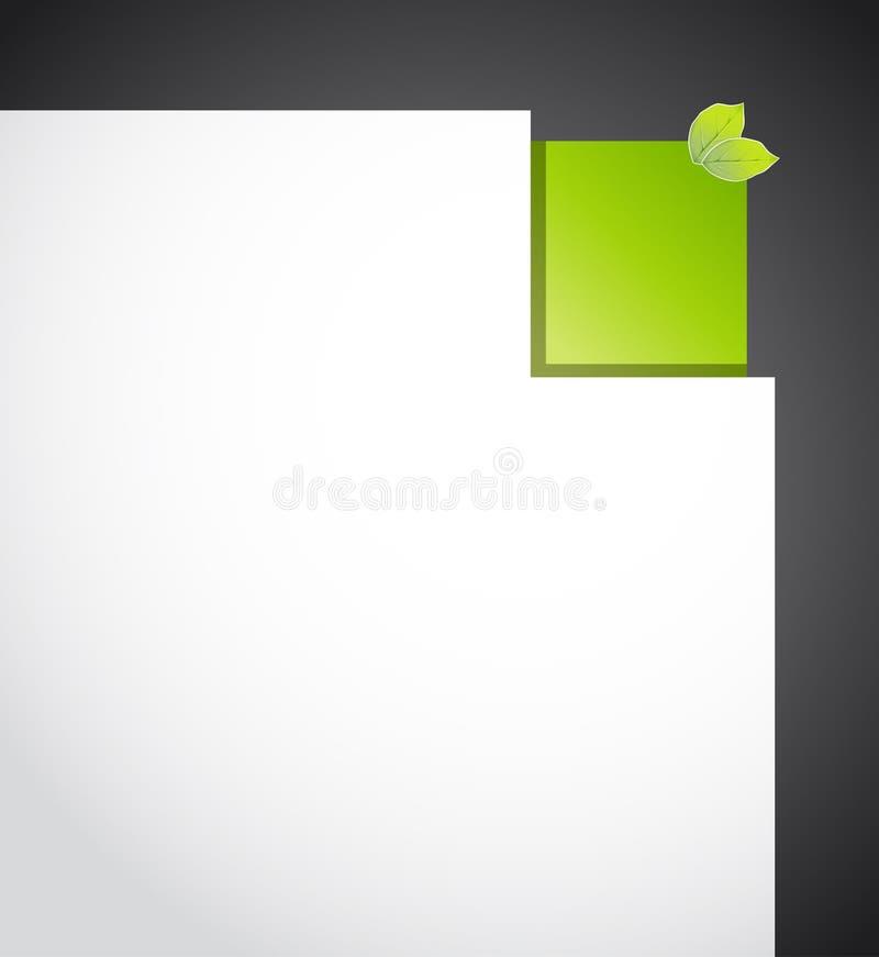 Download Угловая бумага eco иллюстрация вектора. иллюстрации насчитывающей часть - 33739520