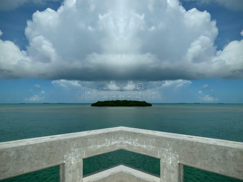 Угловой остров отсутствие фильтра стоковая фотография