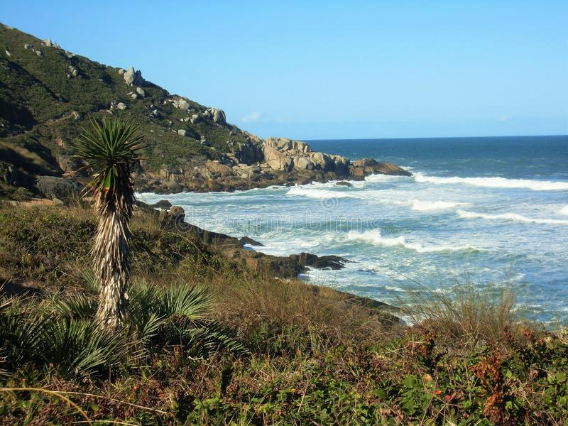 Угловой пляж Vila стоковое изображение rf