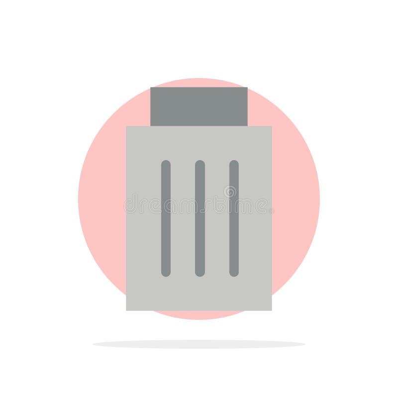 Удаление, интерфейс, погань, значок цвета предпосылки круга конспекта потребителя плоский иллюстрация вектора