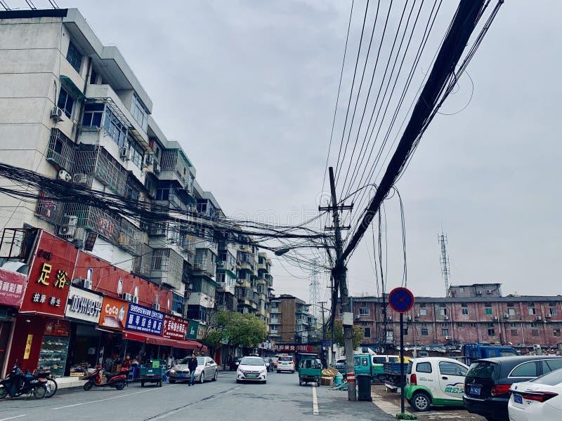 Удаление улицы Zhuantang старой стоковое фото