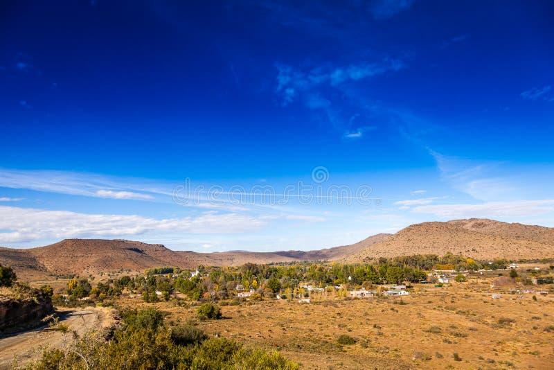 Удаленный городок Nieu Bethesda в Karoo стоковые изображения