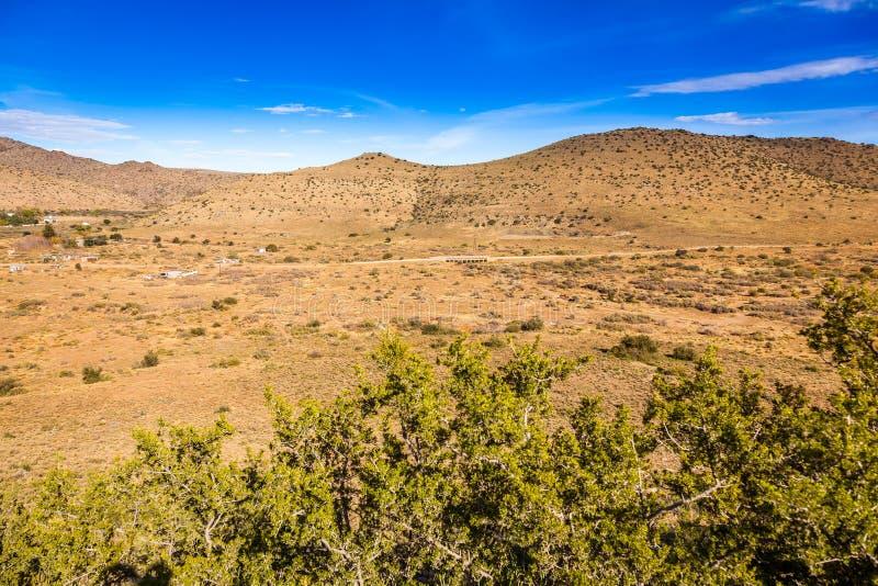 Удаленный городок Nieu Bethesda в Karoo стоковая фотография rf