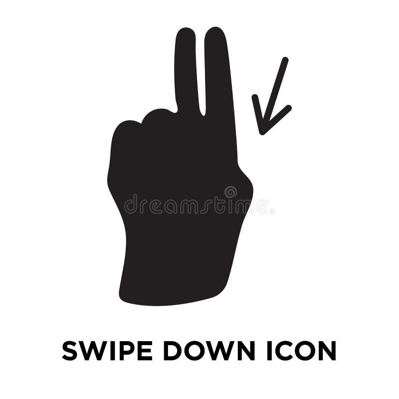Удара вектор значка вниз изолированный на белой предпосылке, concep логотипа бесплатная иллюстрация