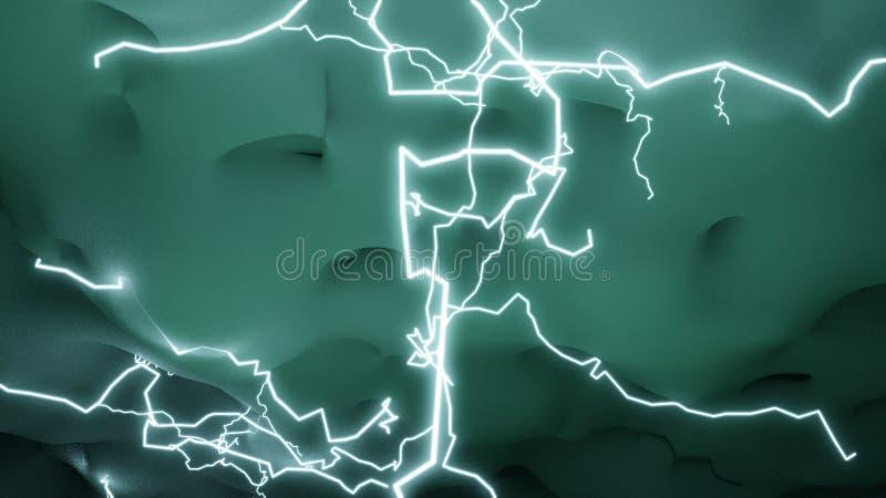 Удары молнии сияют облака бесплатная иллюстрация