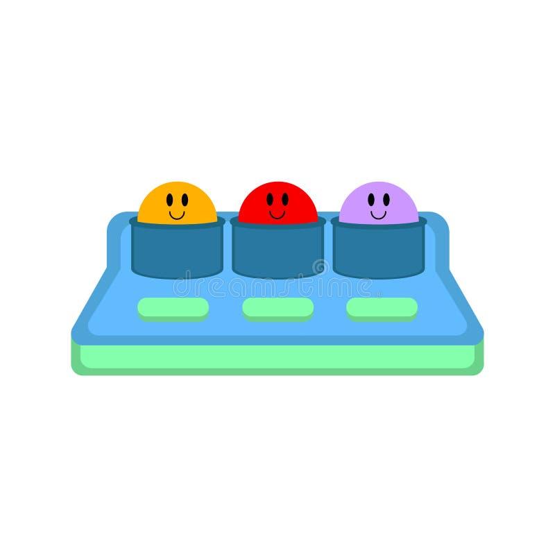 Ударьте значок игрушки моли иллюстрация вектора