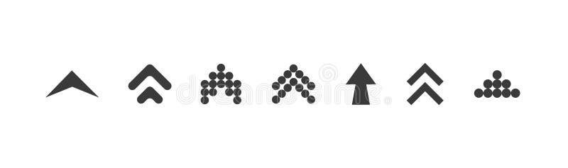 Удар вверх по набору Удар вверх по значку Покрашенный удар вверх по черному r Удар вверх Удар вверх по собранию вектора r бесплатная иллюстрация