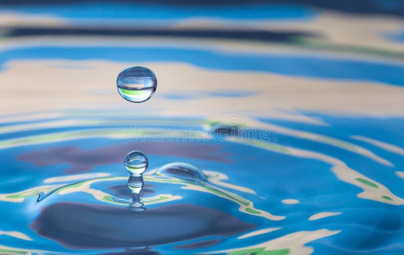 Удар выплеска падения воды стоковые фотографии rf