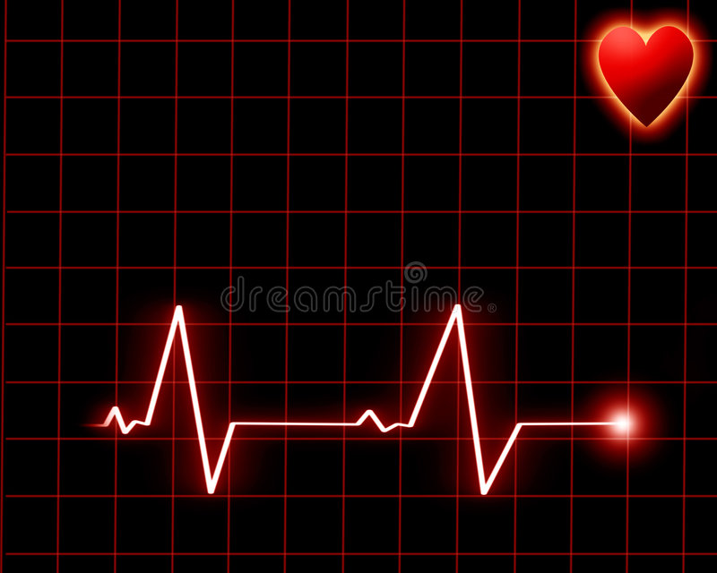 Удар сердца на мониторе иллюстрация вектора