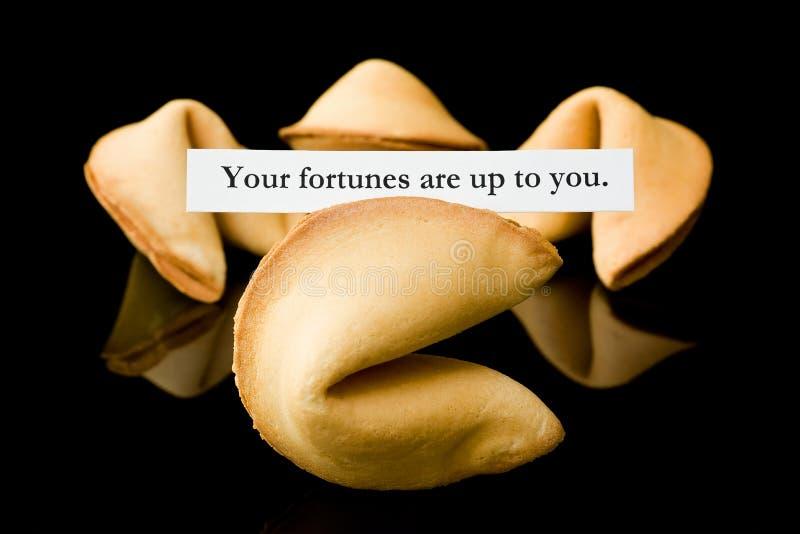 удачи удачи печенья к поднимающему вверх вы ваши стоковое фото rf