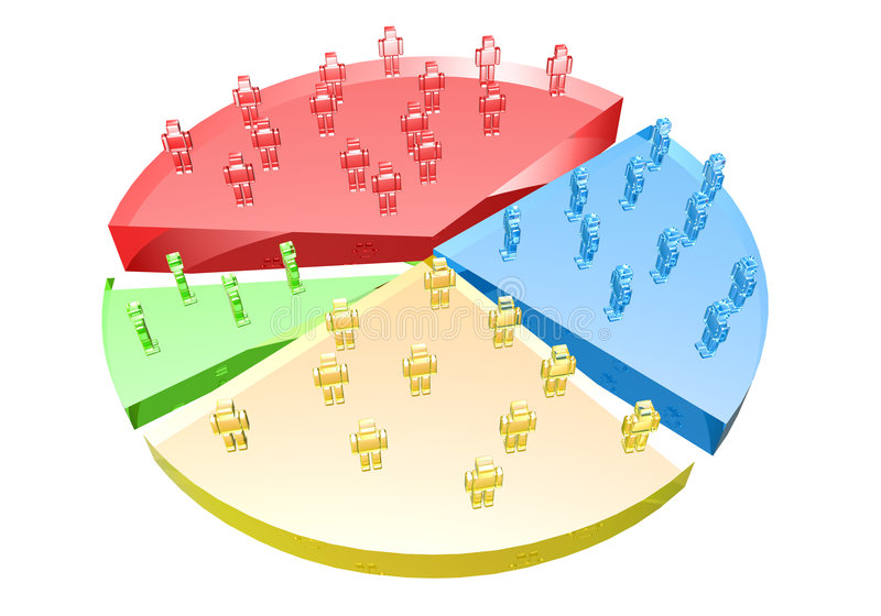 удельный вес на рынке иллюстрация вектора