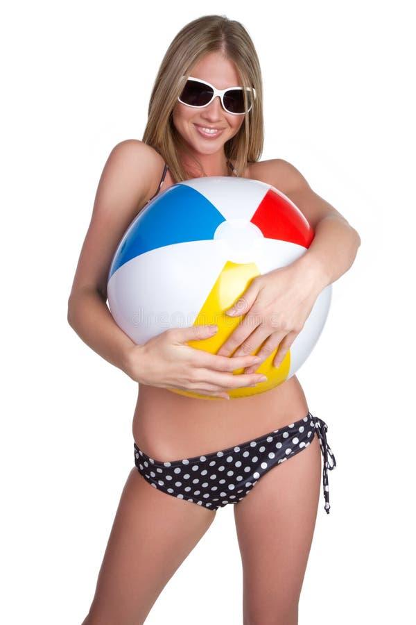 удерживание девушки шарика стоковые изображения rf