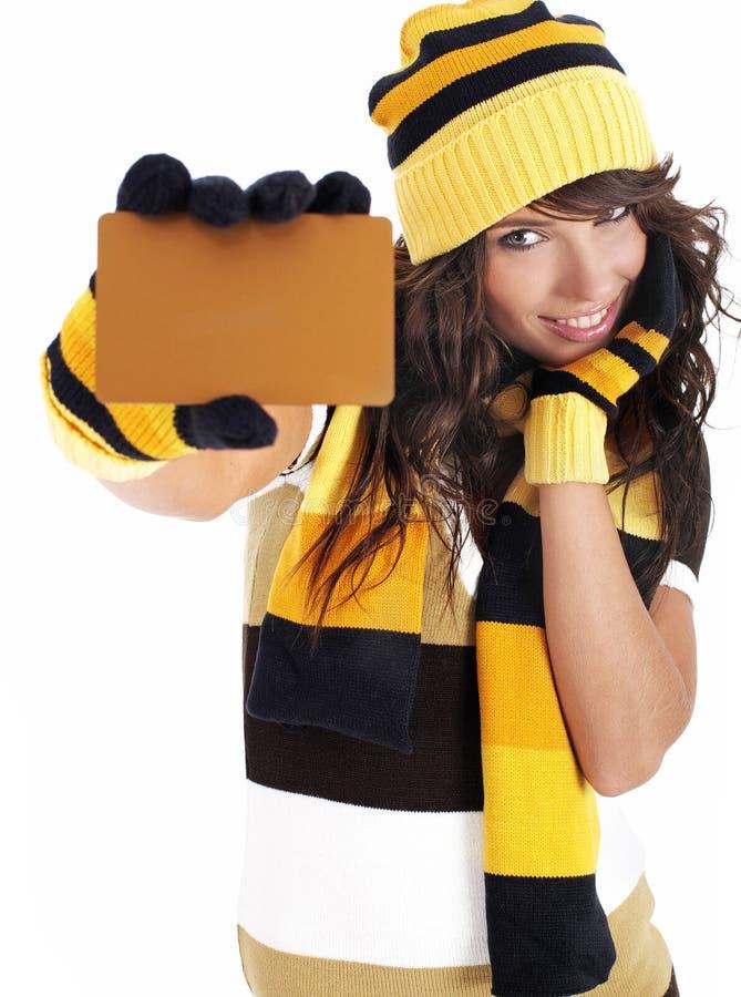 Download удерживание золота девушки кредита карточки Стоковое Фото - изображение насчитывающей жизнерадостно, фасолей: 6868456