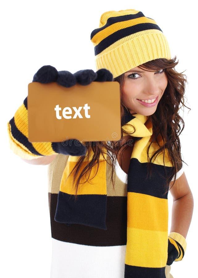 Download удерживание золота девушки кредита карточки Стоковое Фото - изображение насчитывающей жизнерадостно, brougham: 6868636