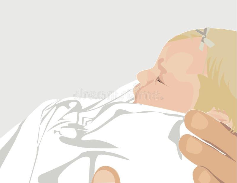удерживание младенца стоковые изображения