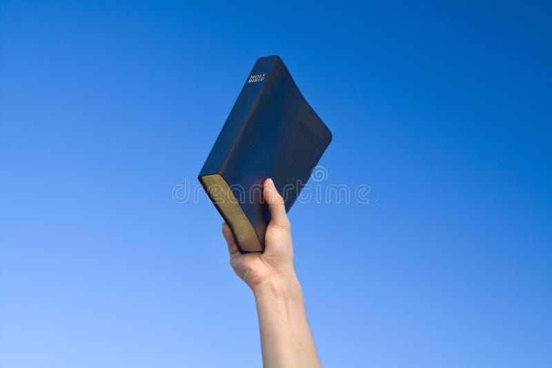 удерживание руки библии стоковые изображения