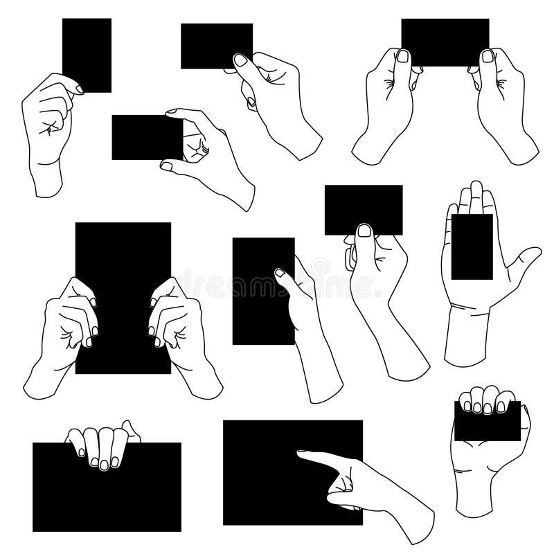 удерживание руки визитной карточки пустое бесплатная иллюстрация