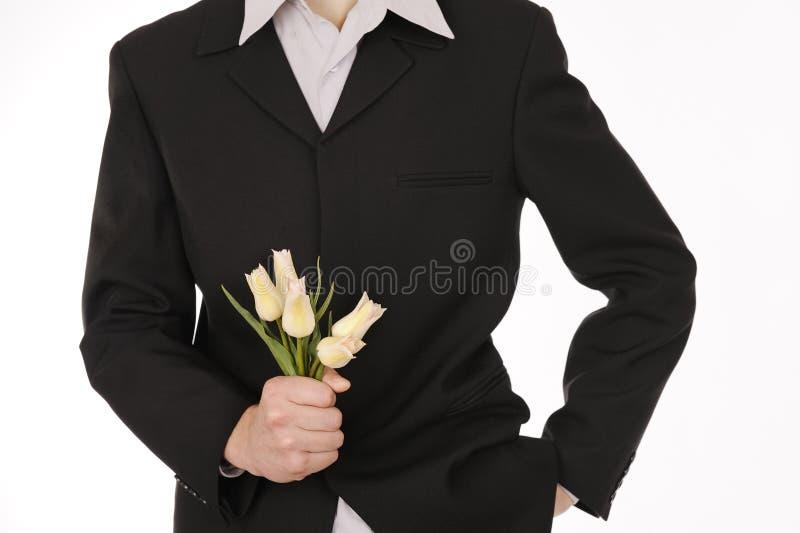 удерживание руки цветков стоковые фотографии rf