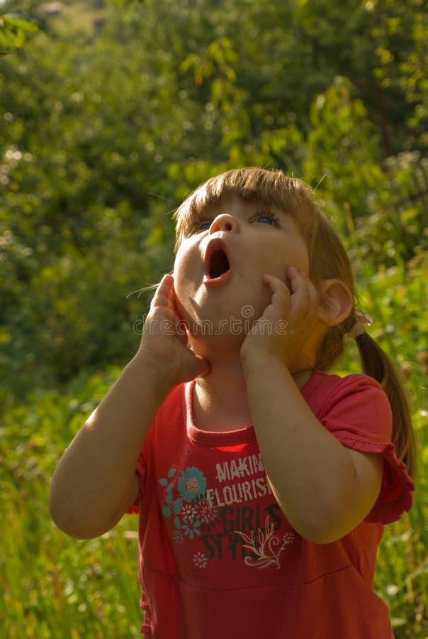 удивленная девушка стоковое фото rf