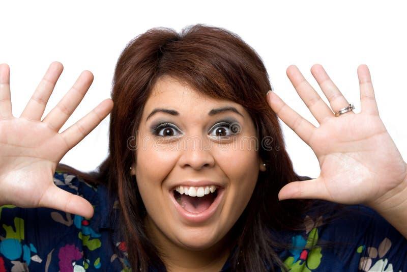 удивленная женщина стоковые изображения rf