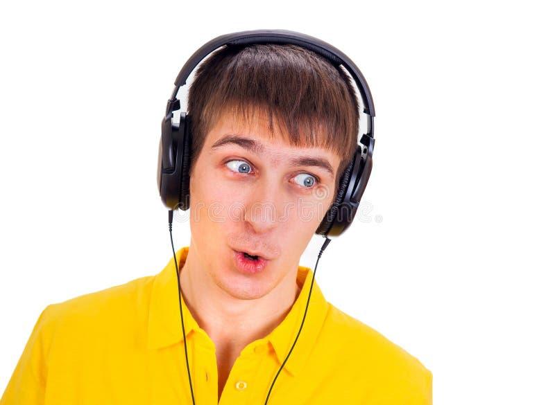 Удивленный молодой человек стоковое фото rf