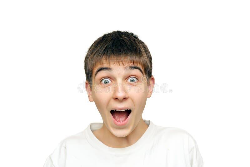 Удивленный подросток стоковая фотография rf