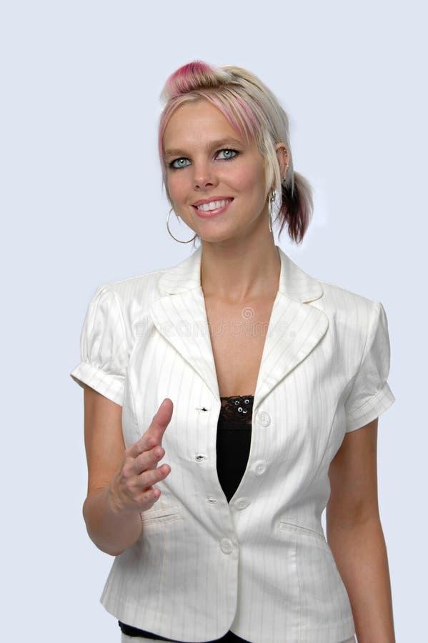 удлиняя женщина руки стоковое фото rf