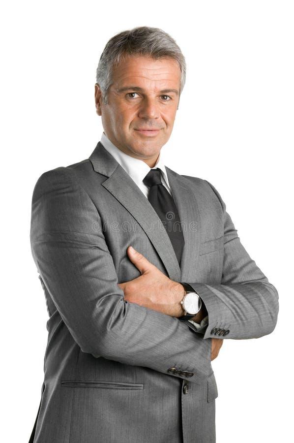Удовлетворенный бизнесмен стоковое изображение