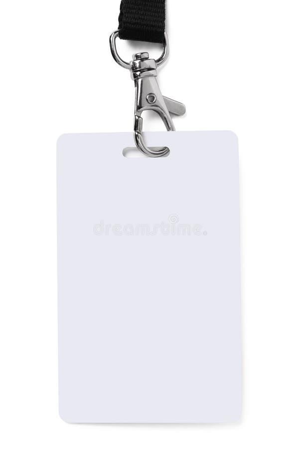 удостоверение личности значка стоковая фотография