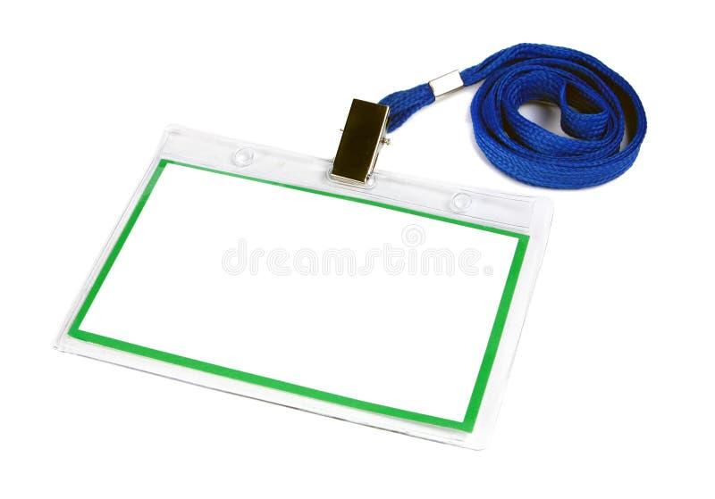 удостоверение личности карточки значка пустое стоковые изображения rf