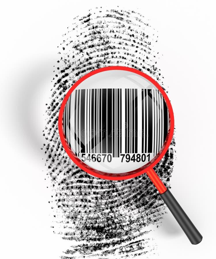 удостоверение личности кода штриховой маркировки иллюстрация штока