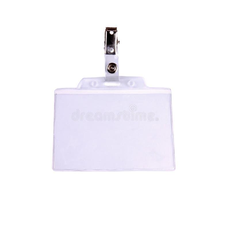 удостоверение личности пустой карточки значка стоковая фотография rf