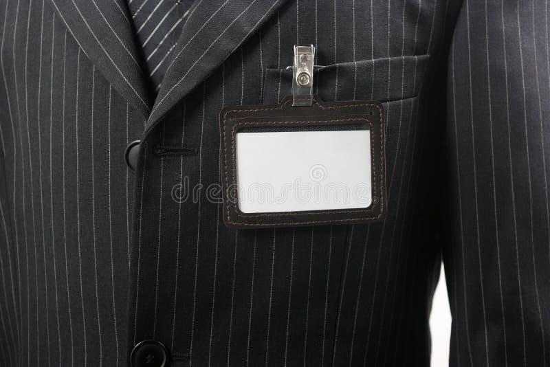 удостоверение личности пустой карточки стоковое фото
