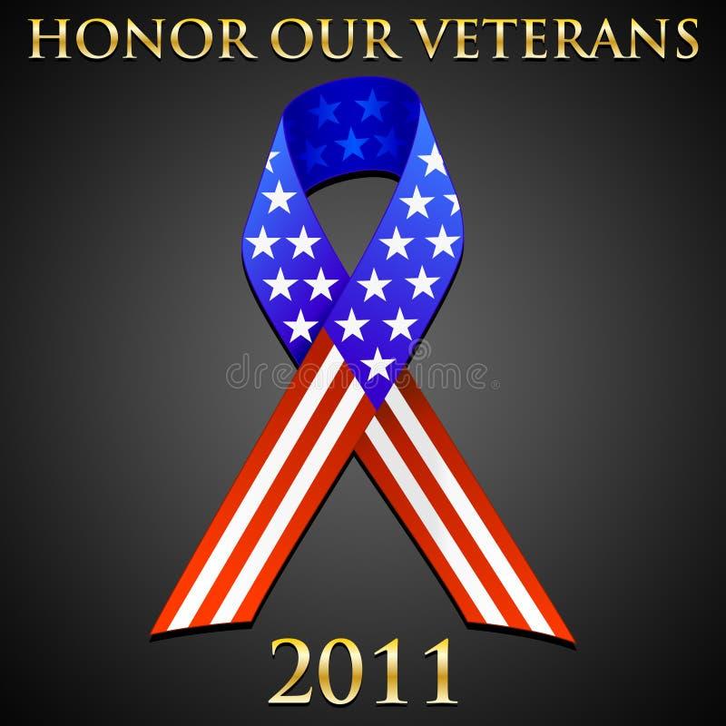 удостоьте наших ветеранов иллюстрация вектора