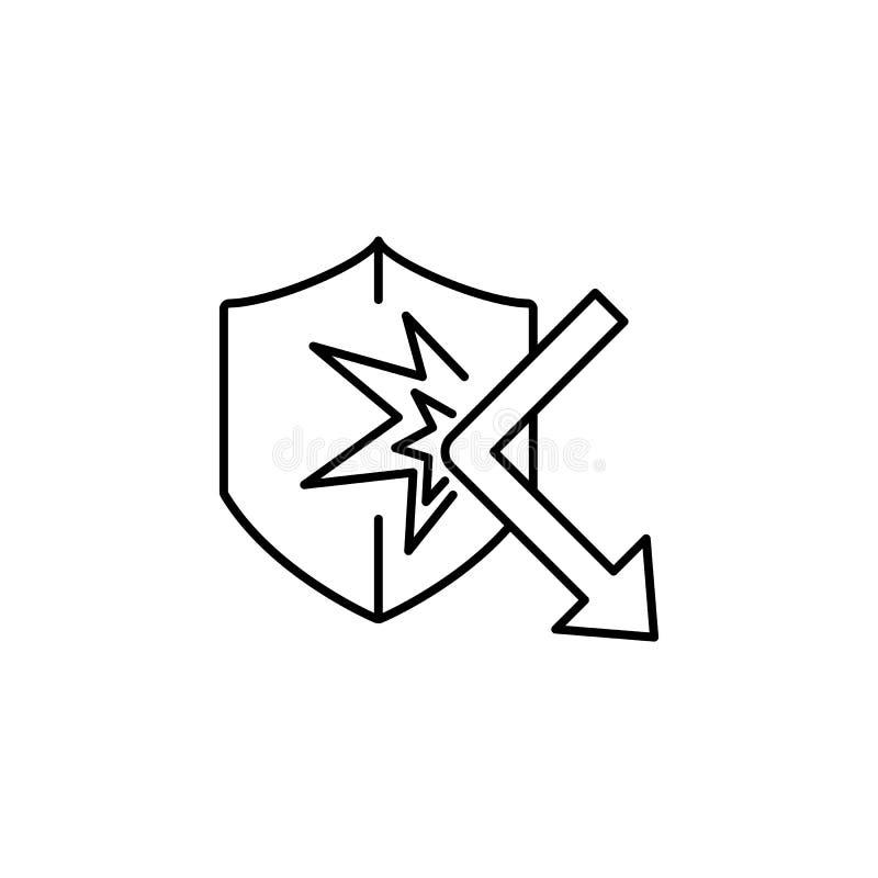 Уединение, значок gdpr Элемент общих данных проектирует значок для передвижных apps концепции и сети Тонкую линию уединение, знач бесплатная иллюстрация