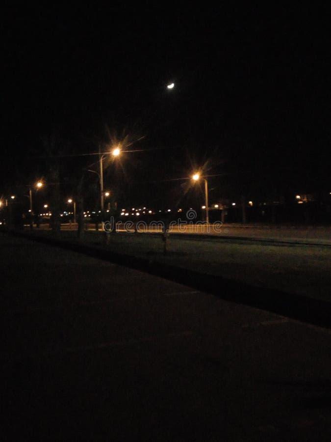 Уединённая луна стоковая фотография