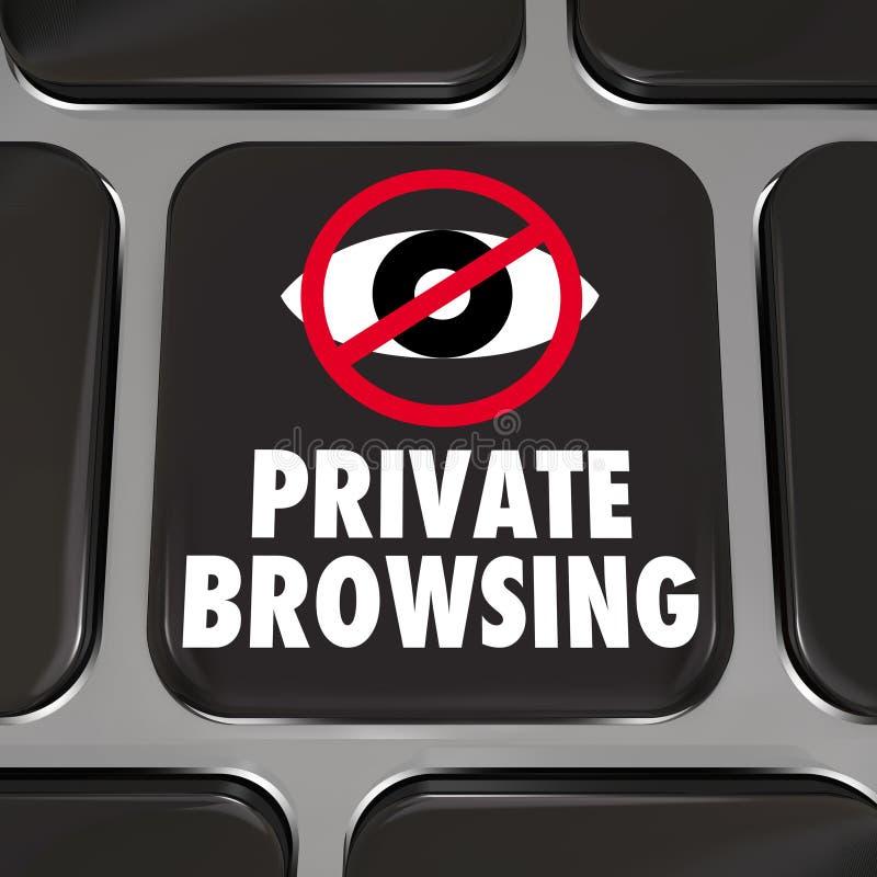 Уединение частной сети ключа безопасностью интернета просматривать занимаясь серфингом иллюстрация штока