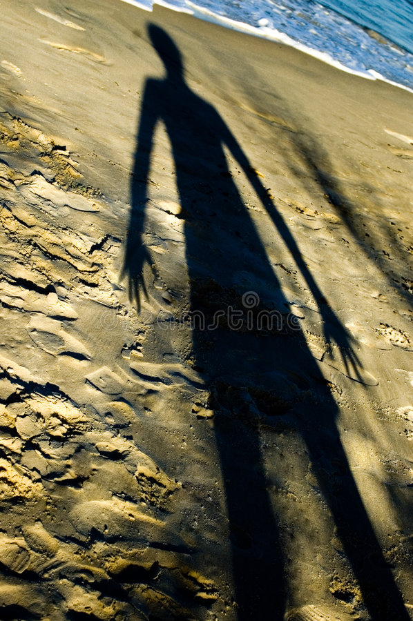 ужасная тень девушки стоковые изображения rf